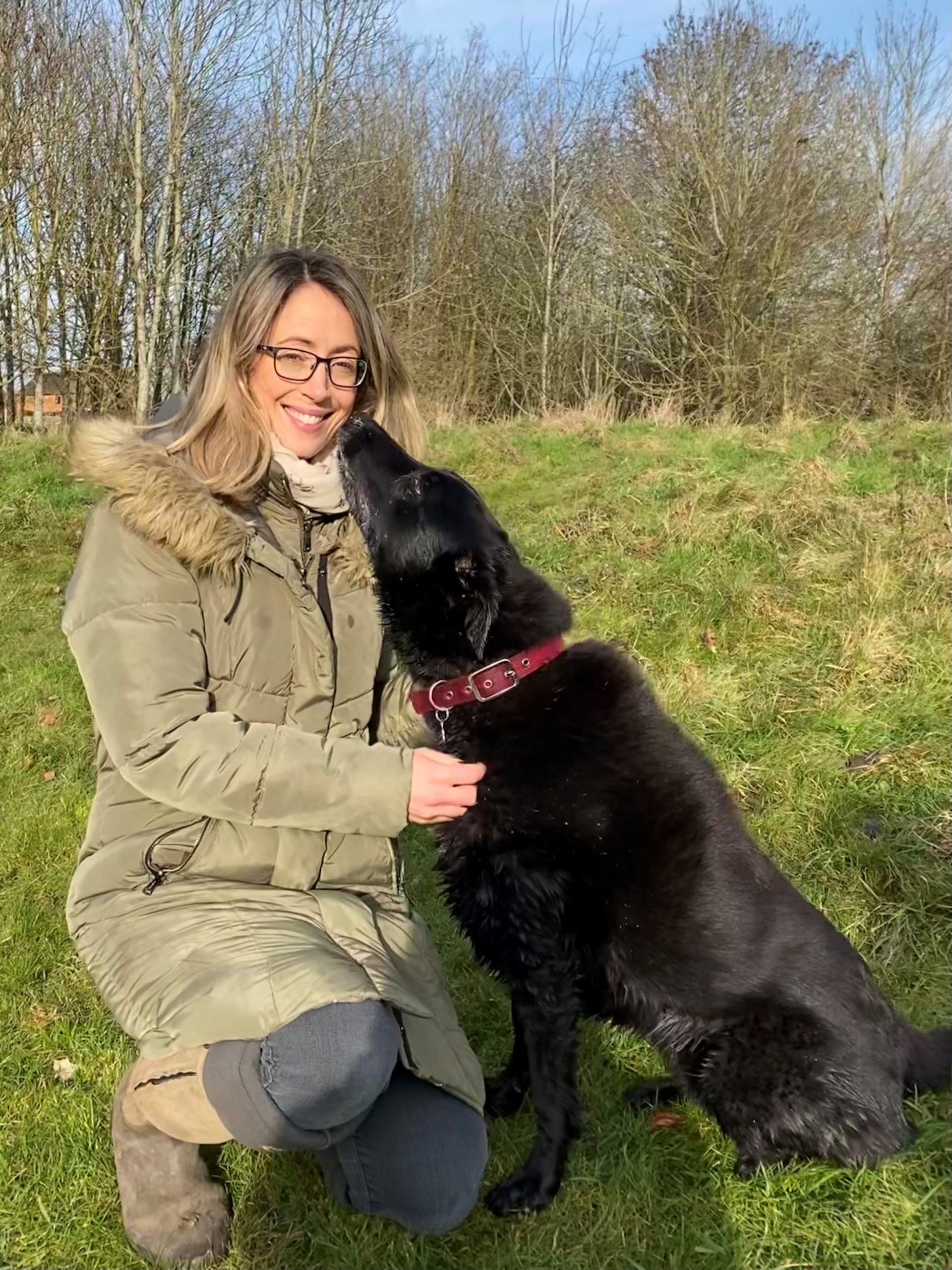 Dr Sarah-Jane Molier with her dog